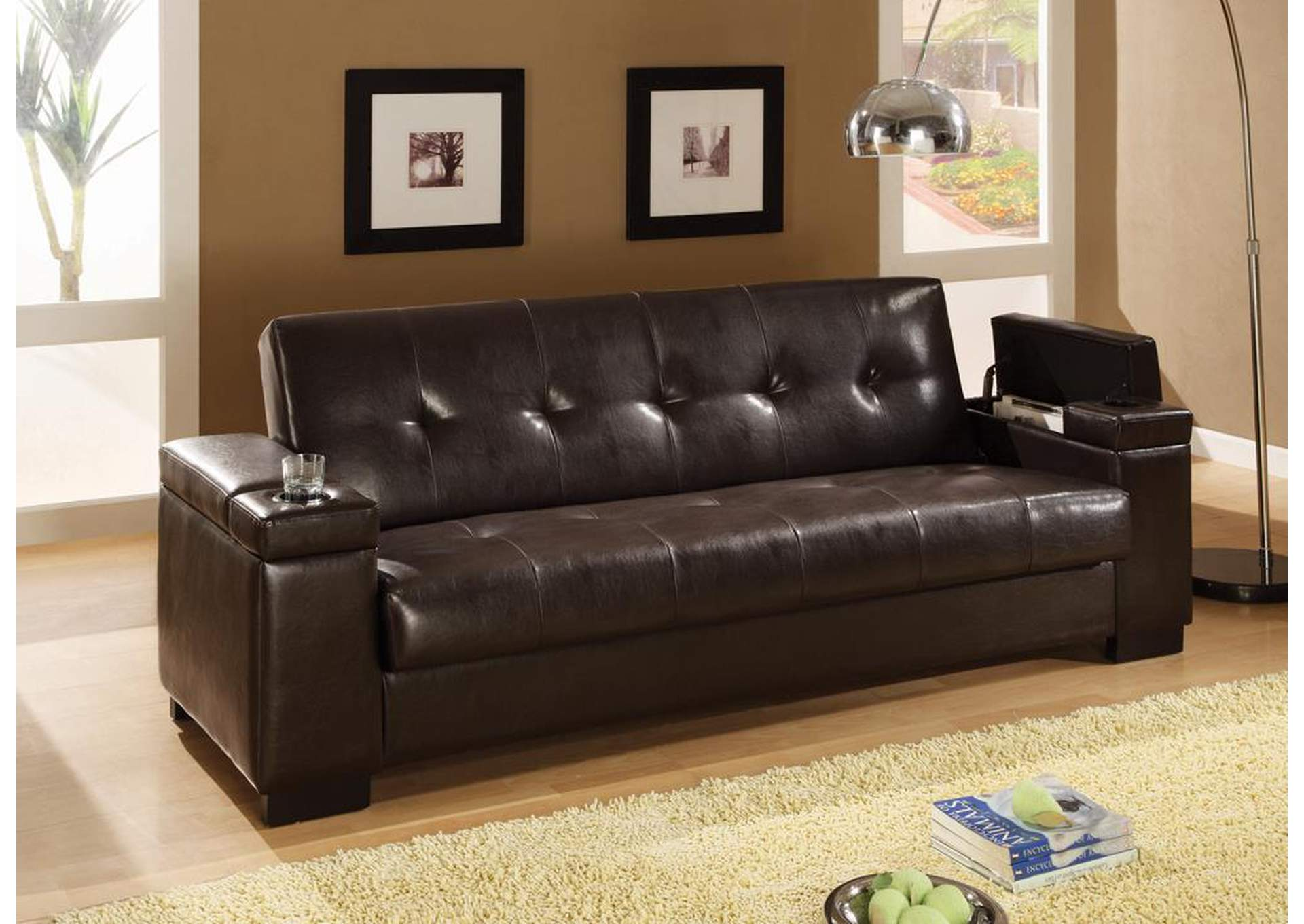 Dark Brown Sofa Bed,Coaster Furniture