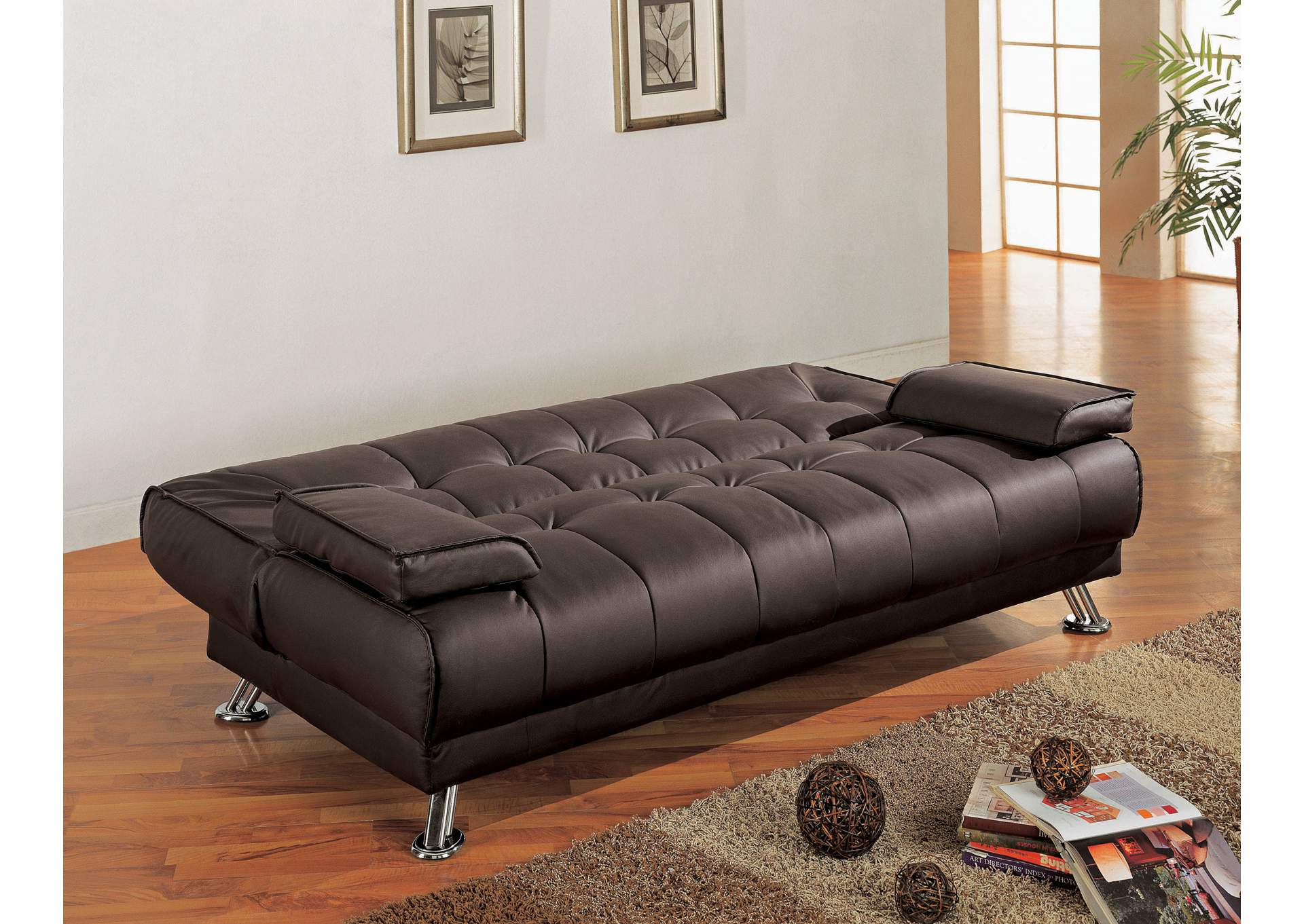 Brown Futon Sofa Bed,Coaster Furniture