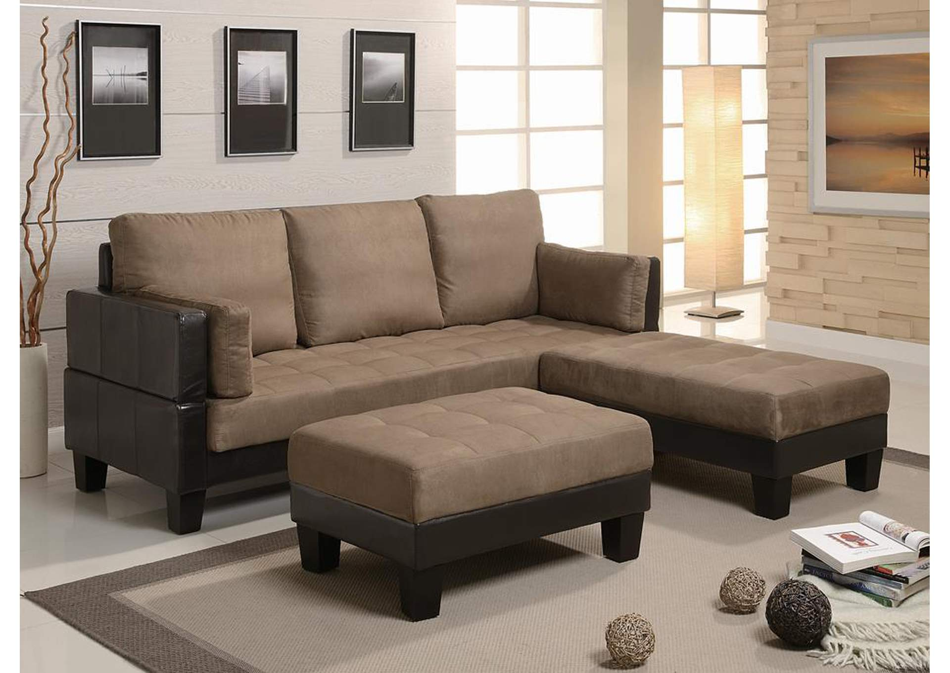 Ellesmere Tan Sofa Bed,Coaster Furniture