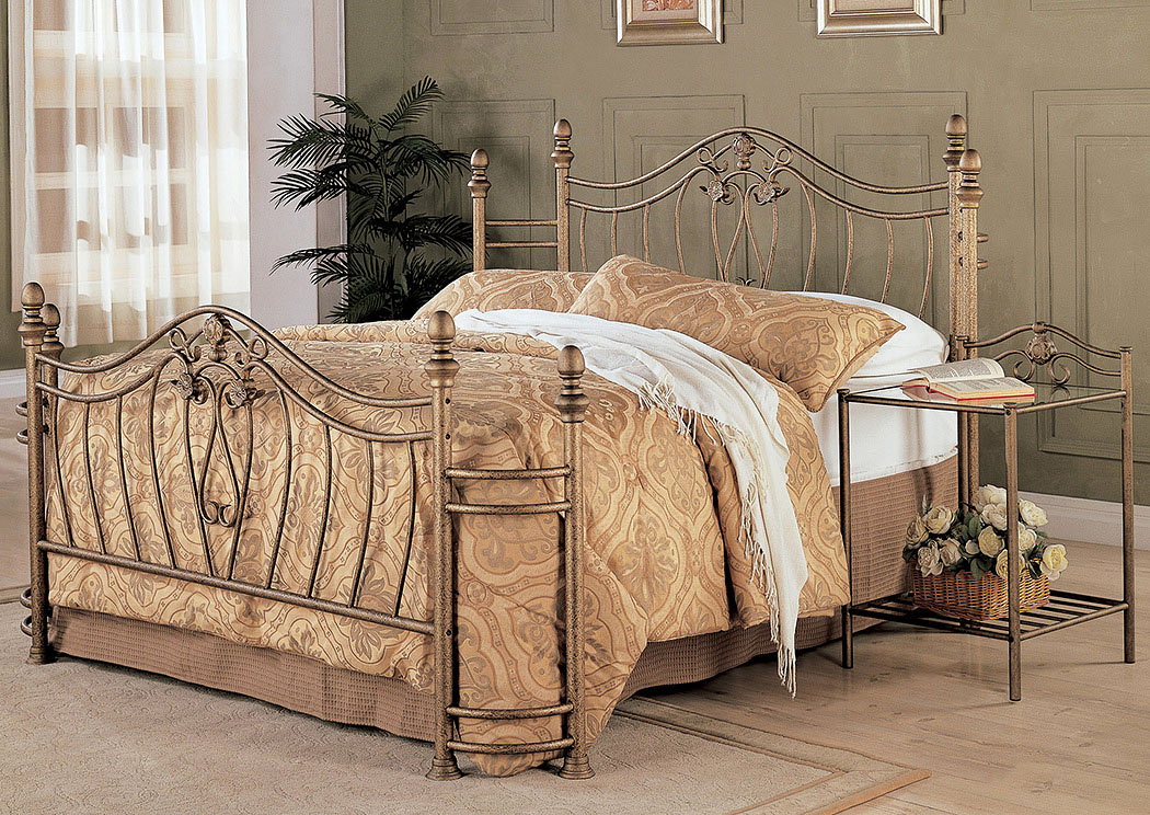 Sydney Golden Metal Queen Bed (Requires Additional Frame),Coaster Furniture