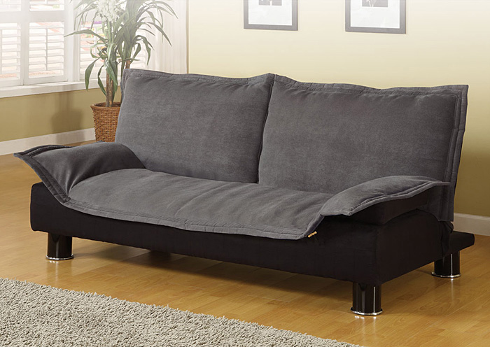 Grey & Black Futon Sofa Bed,Coaster Furniture