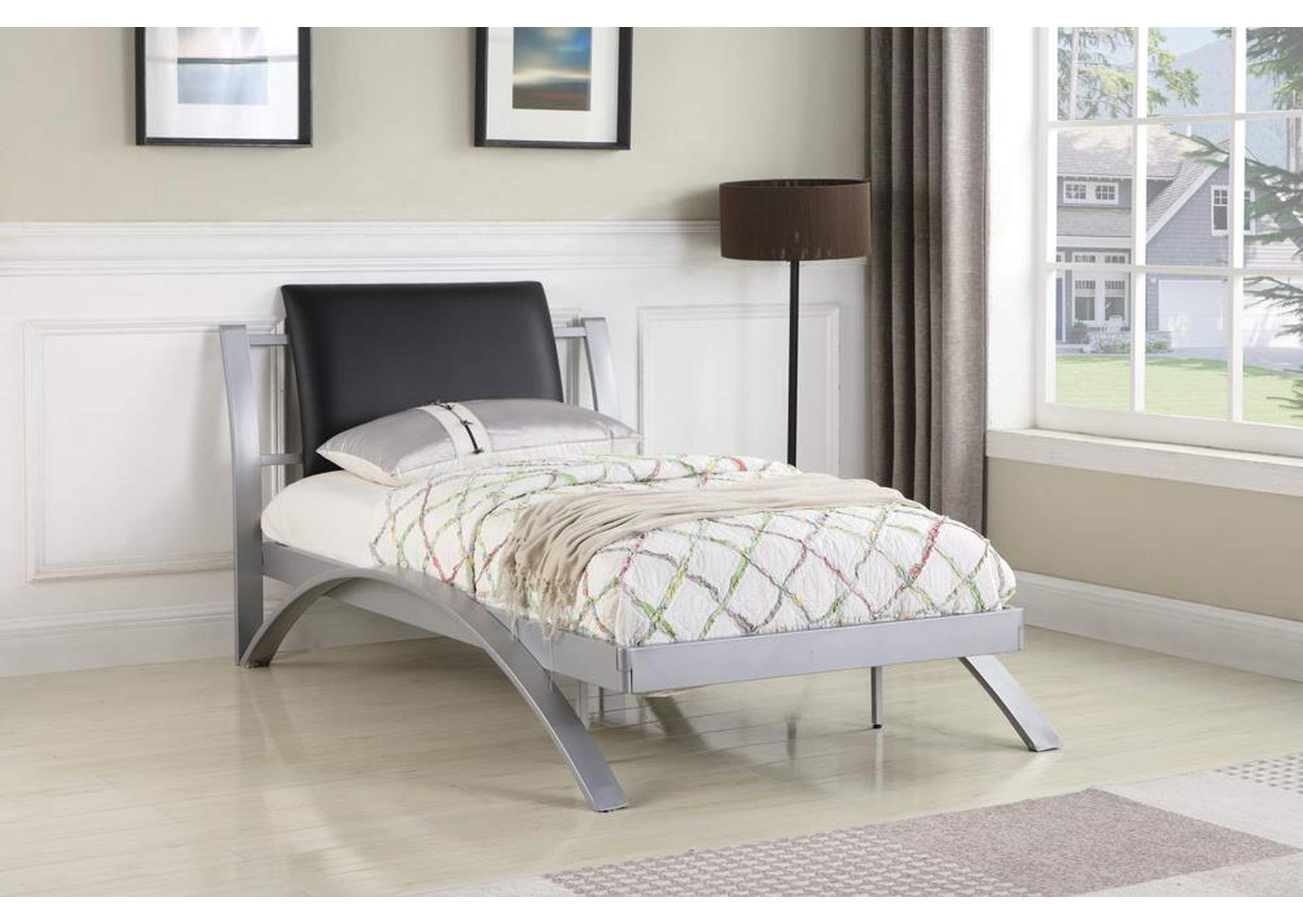 Black Twin Bed,Coaster Furniture