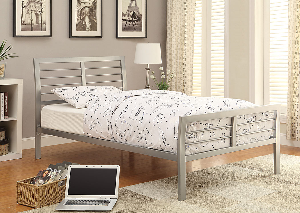 LeClair Silver Metal Twin Platform Bed,Coaster Furniture