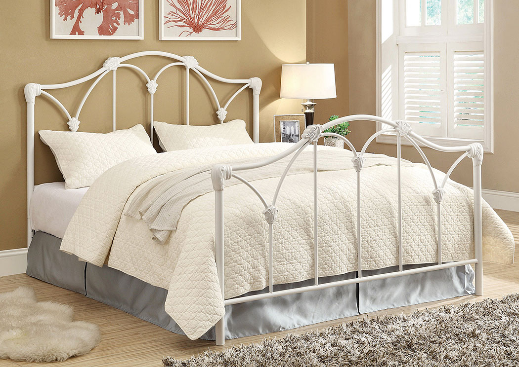 Scarlett White Queen Bed (Requires Additional Frame),Coaster Furniture