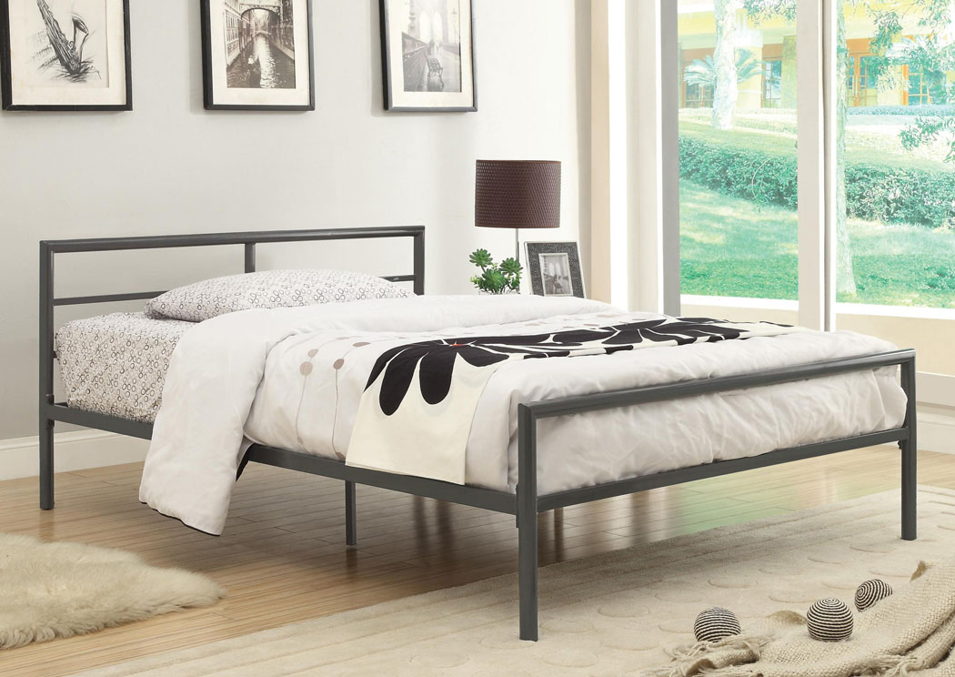Gunmetal Twin Size Bed,Coaster Furniture