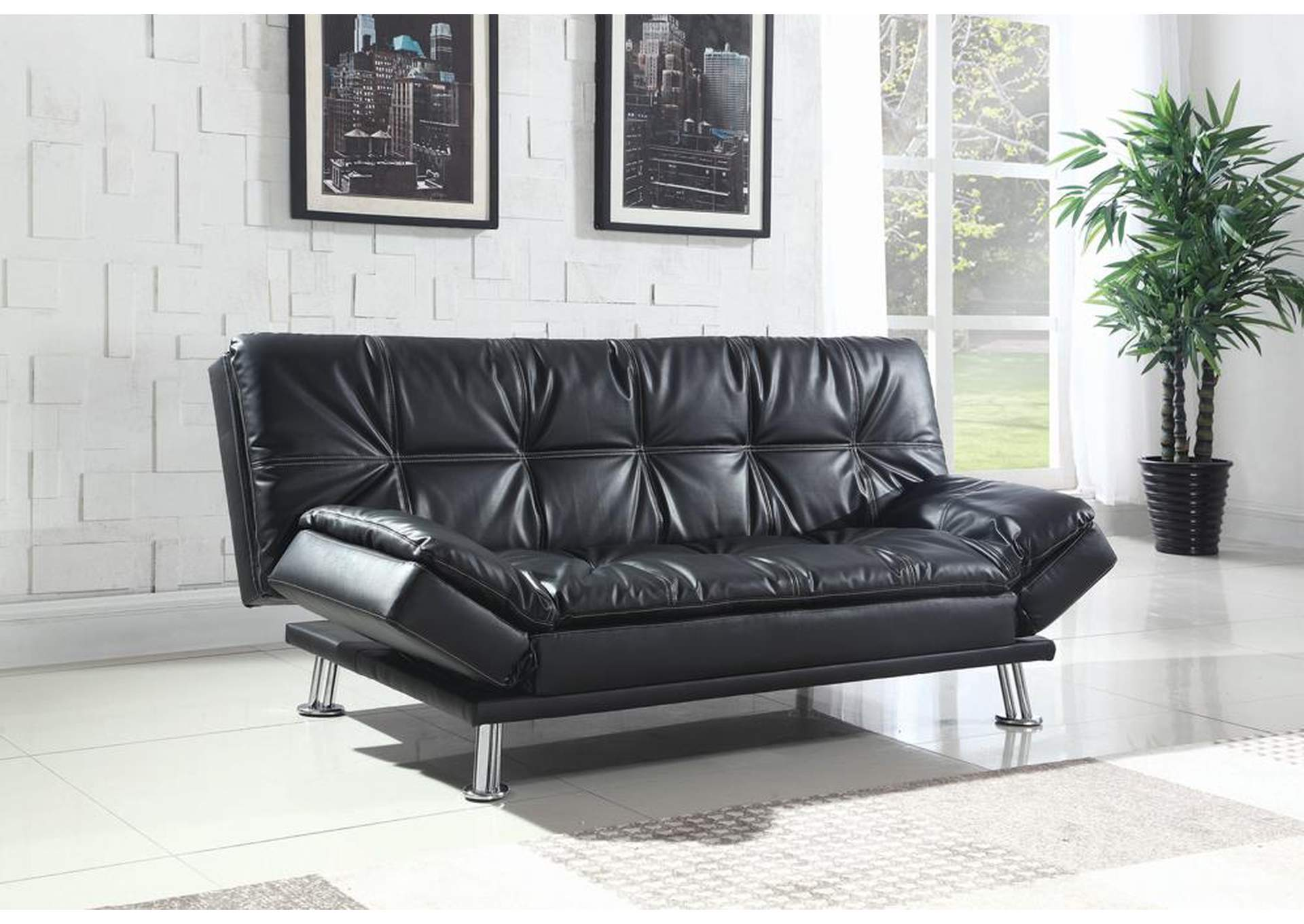 Oak Furniture Liquidators Dilleston Black Sofa Bed