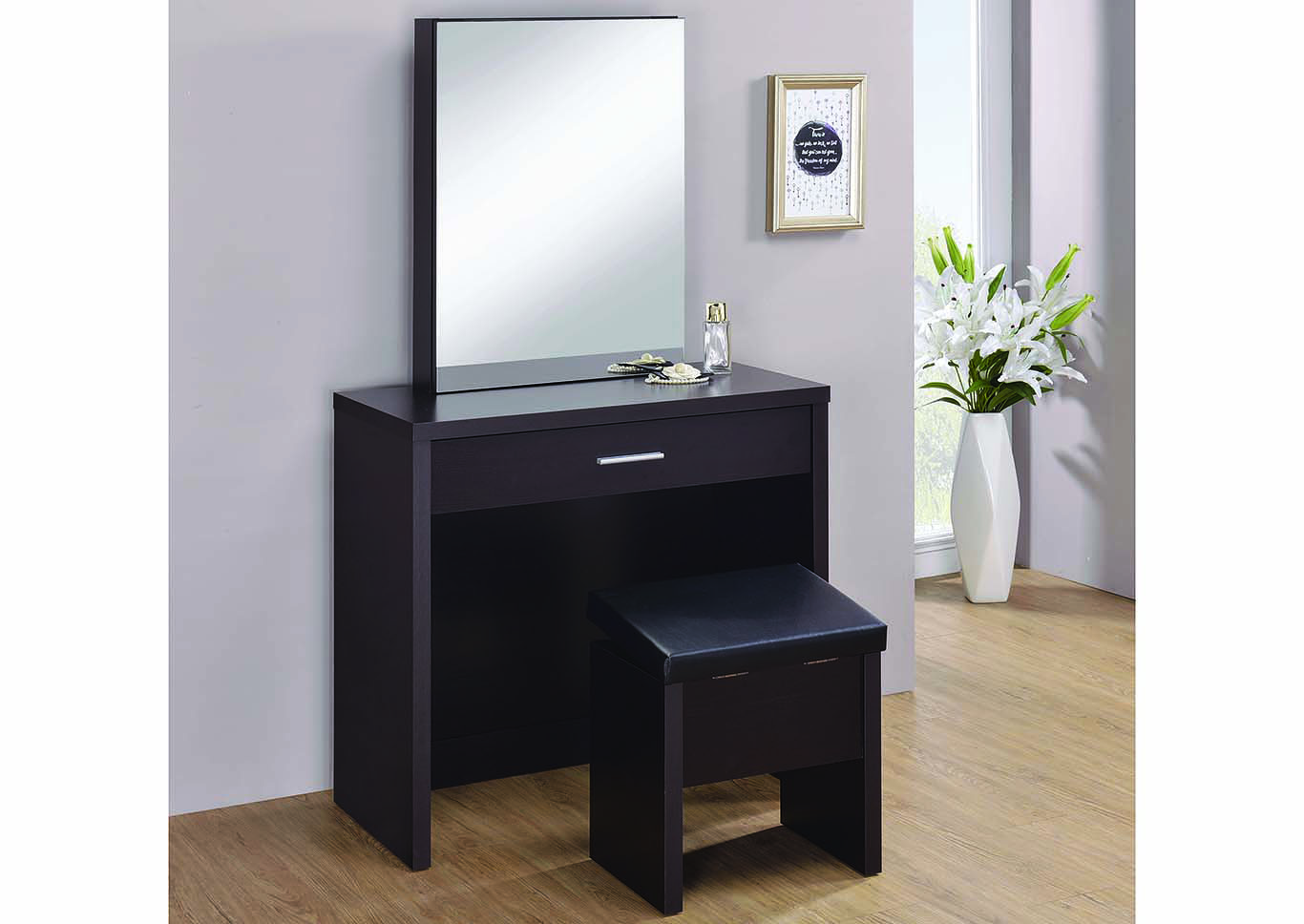 Cappuccino 2-Piece Vanity Set,Coaster Furniture