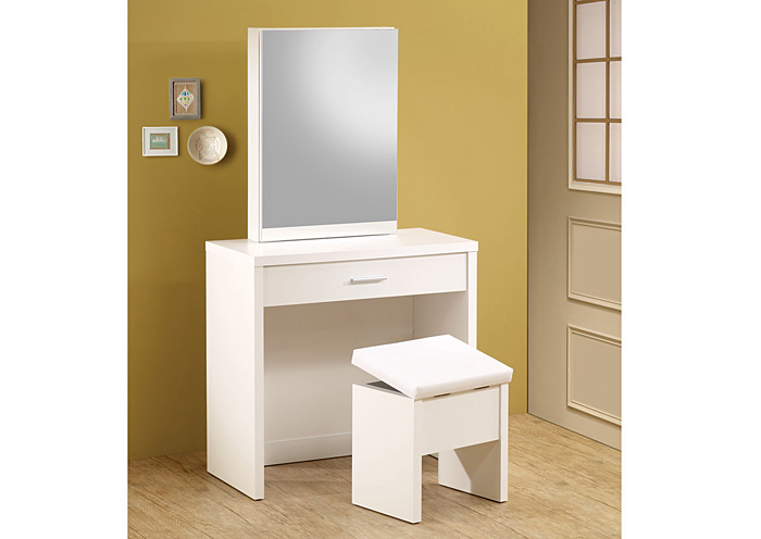 White 2-Piece Vanity Set,Coaster Furniture