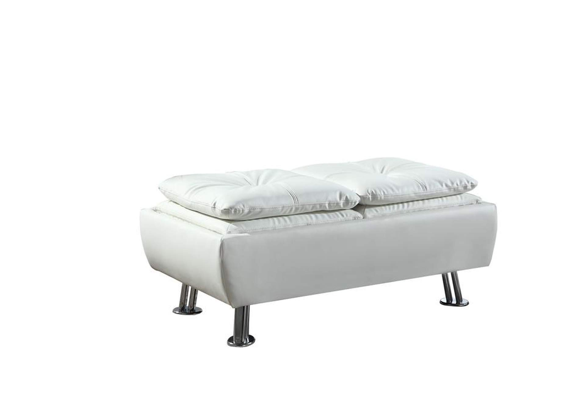 Dilleston White Ottoman,Coaster Furniture