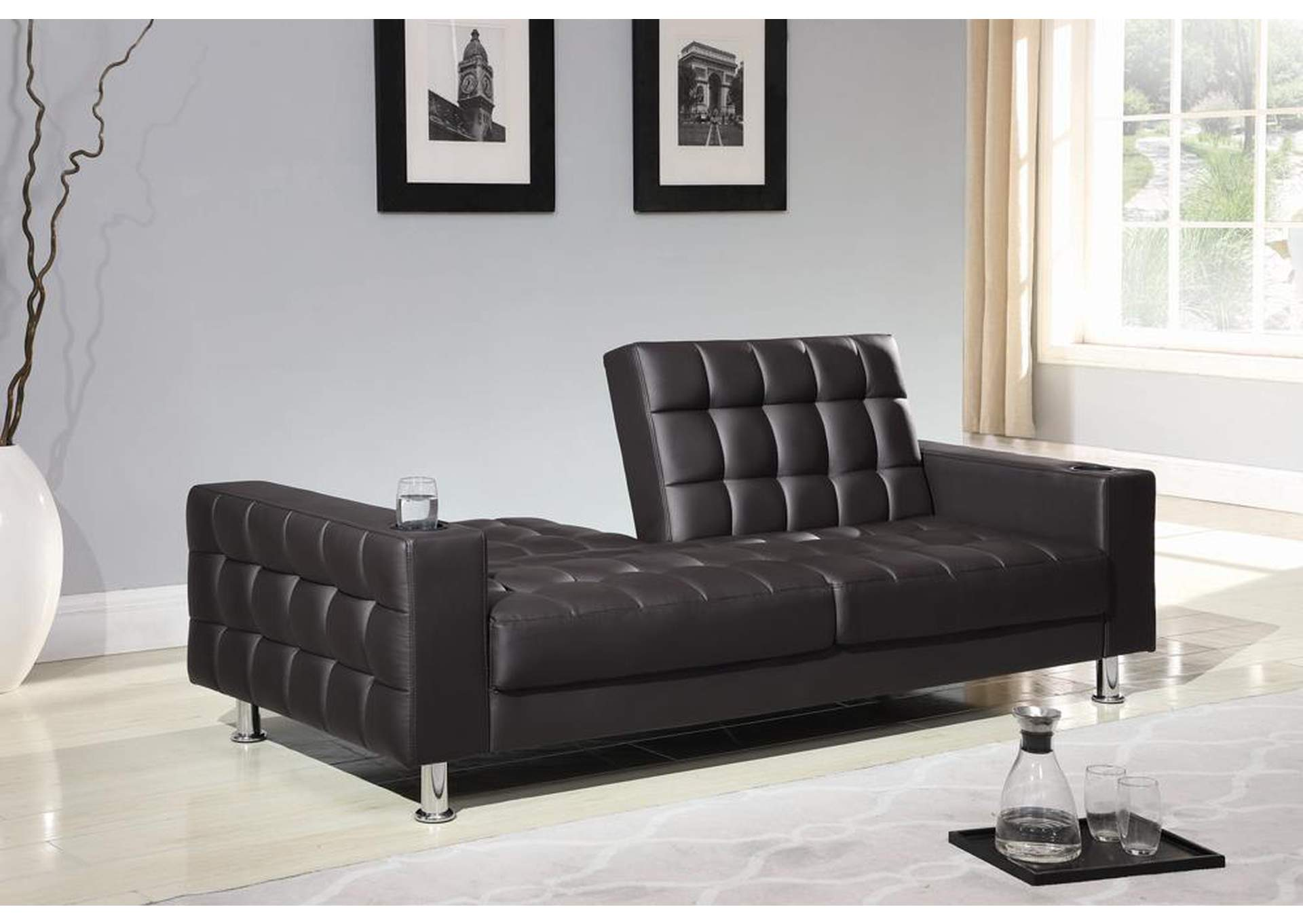 Ace Furniture and Decor Dark Brown Sofa Bed