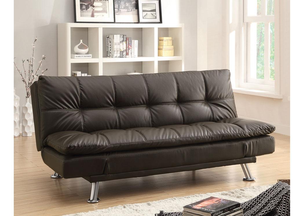 Frugal Furniture   Boston, Mattapan, Jamaica Plain, Dorchester MA Brown  Sofa Bed