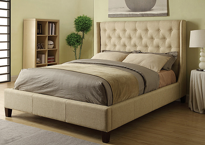 Tan Queen Bed,Coaster Furniture