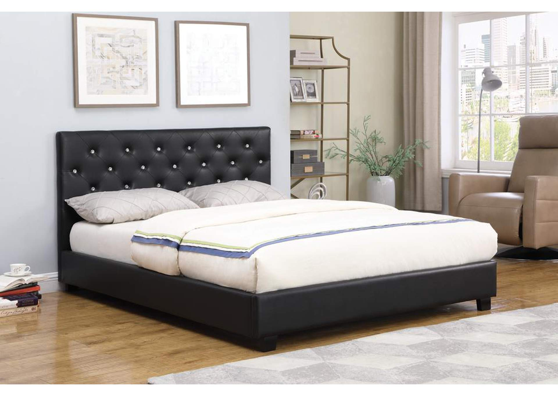Regina Black Queen Bed,Coaster Furniture