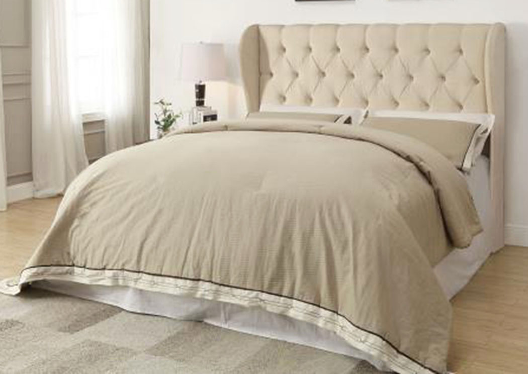 Beige Queen/Full Headboard,Coaster Furniture