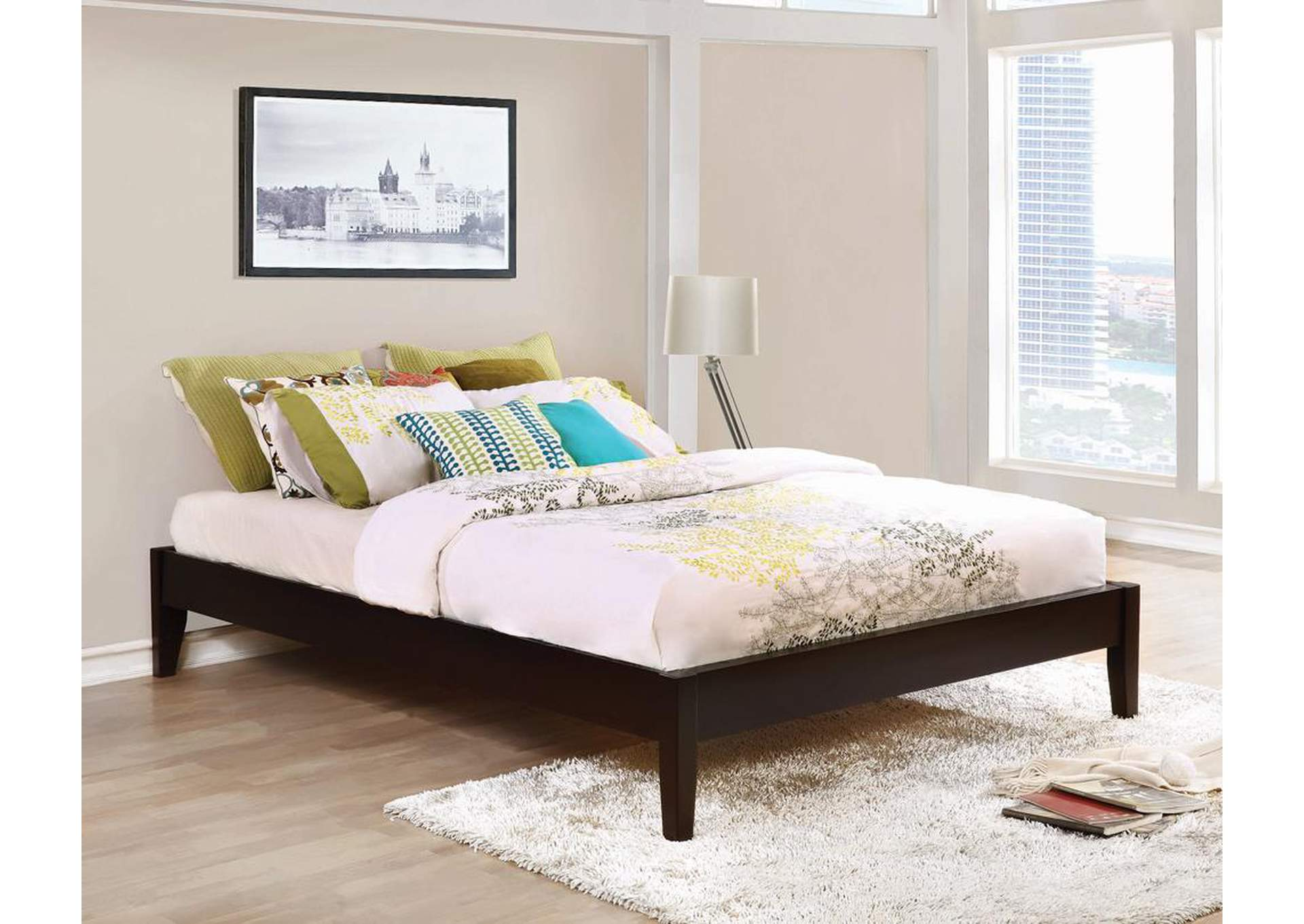 Hounslow Cappuccino Twin Platform Bed,Coaster Furniture