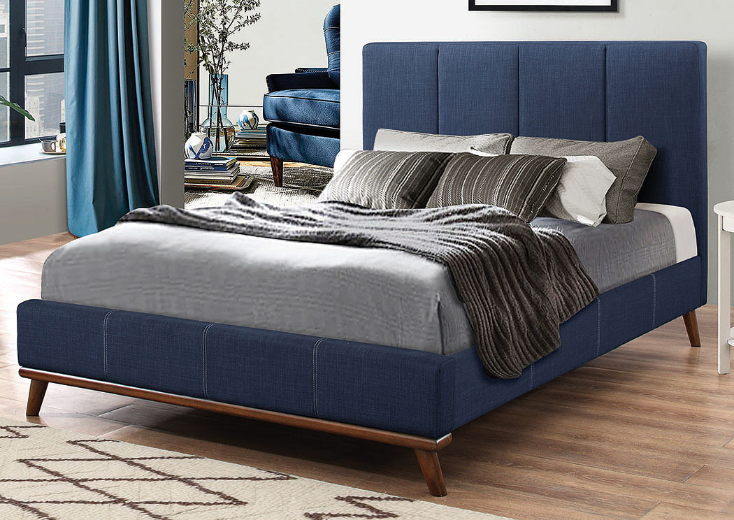 Charity Blue Queen Bed,Coaster Furniture