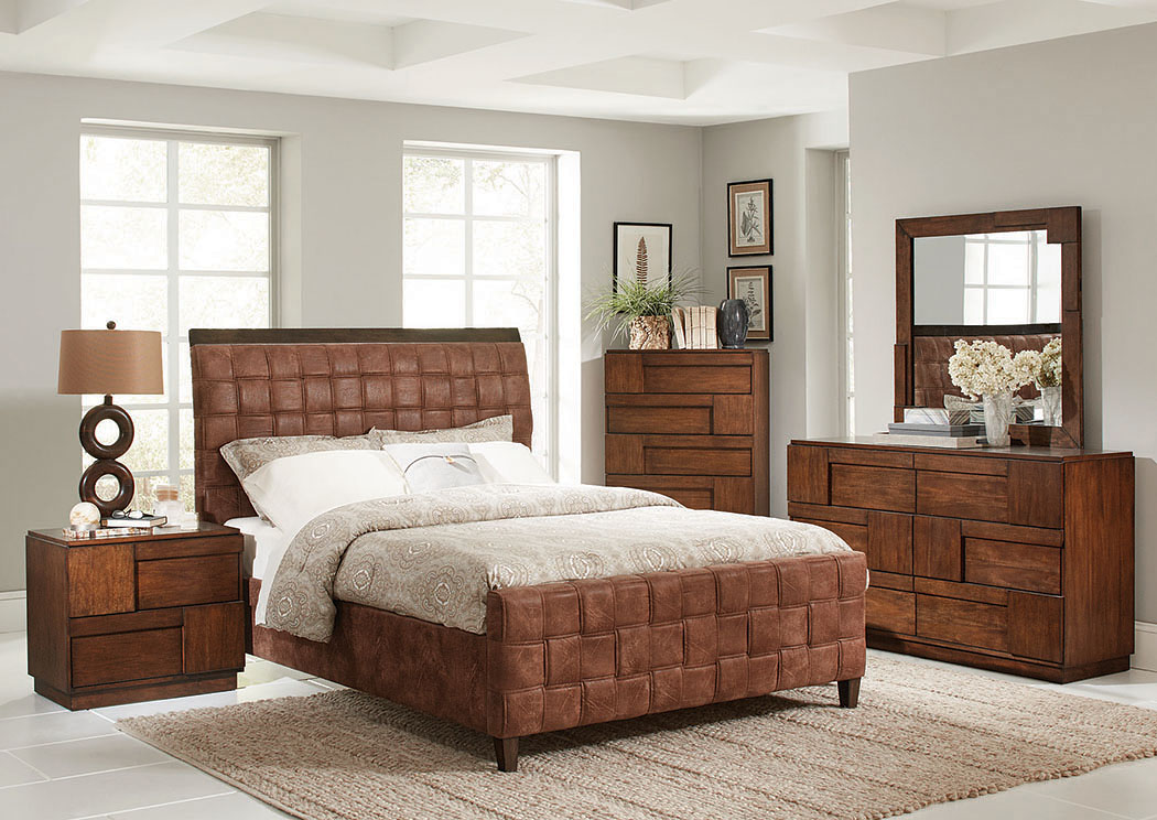 Brown Queen Bed,Coaster Furniture