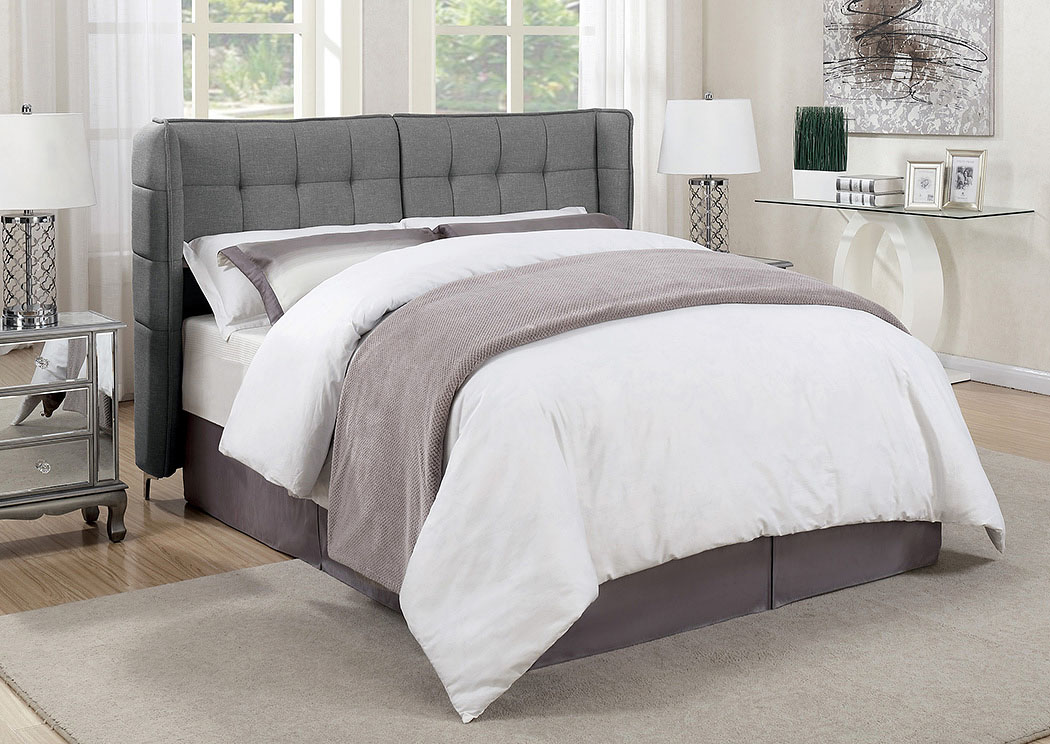 Gray Upholstered Queen Platform Bed,Coaster Furniture