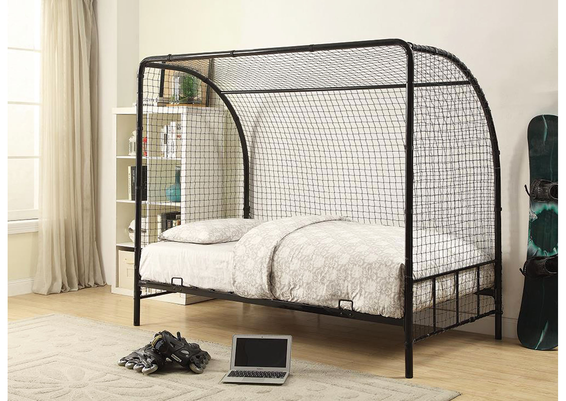 Black Twin Soccer Bed,Coaster Furniture