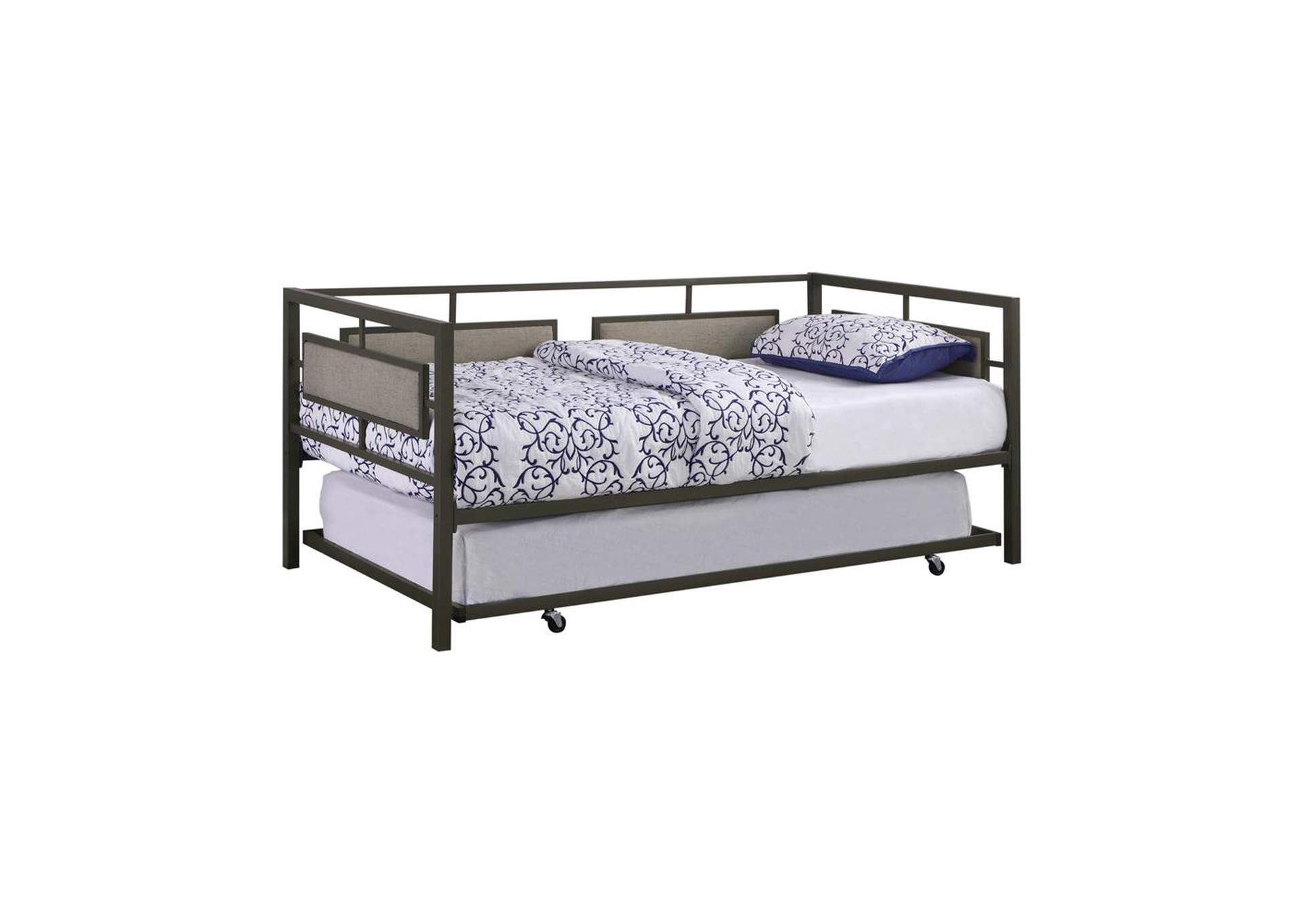 Bombay Maddie Taupe and Black Daybed W/ Trundle,Coaster Furniture