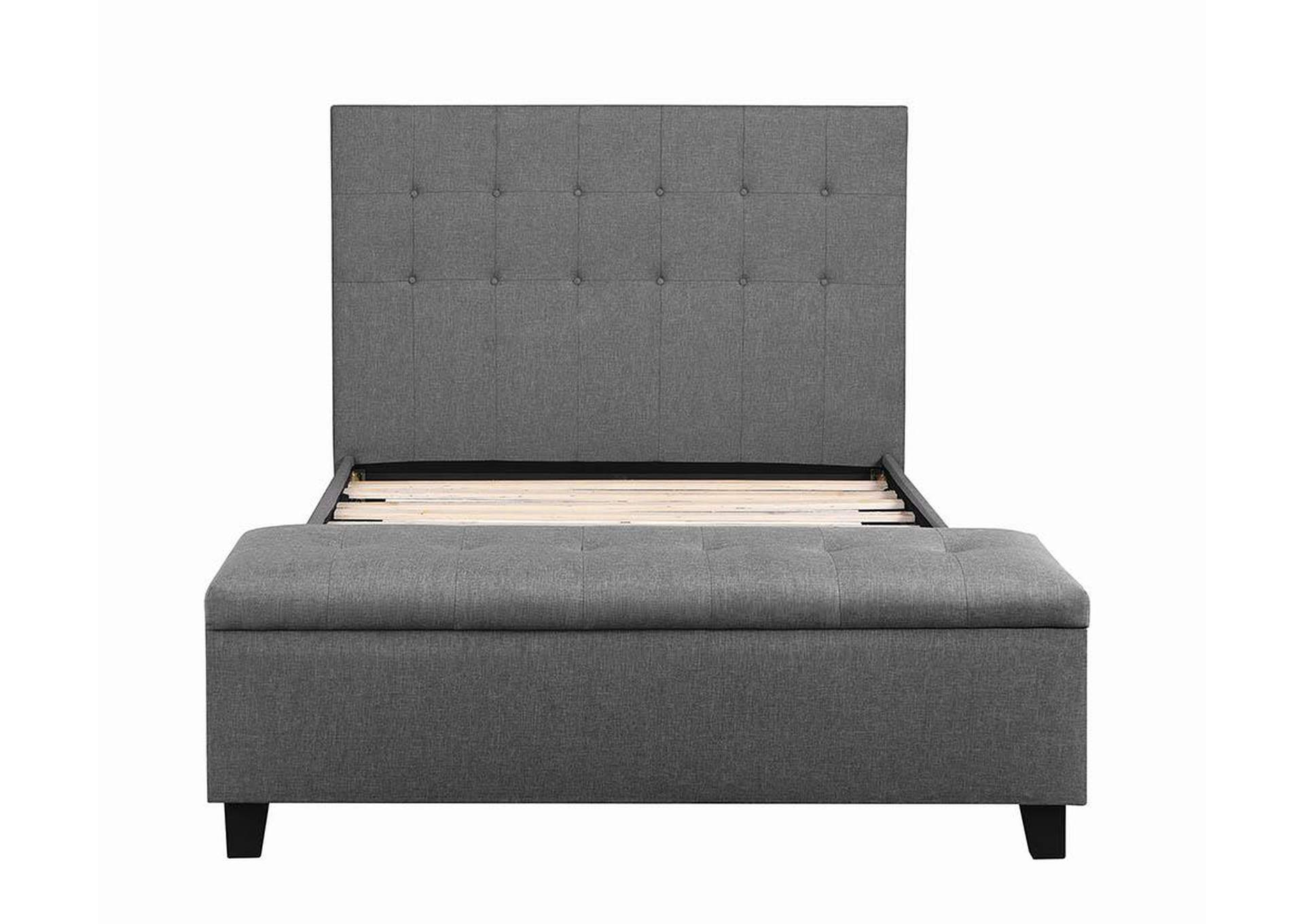Halpert Light Grey Queen Platform Bed w/Storage,Coaster Furniture