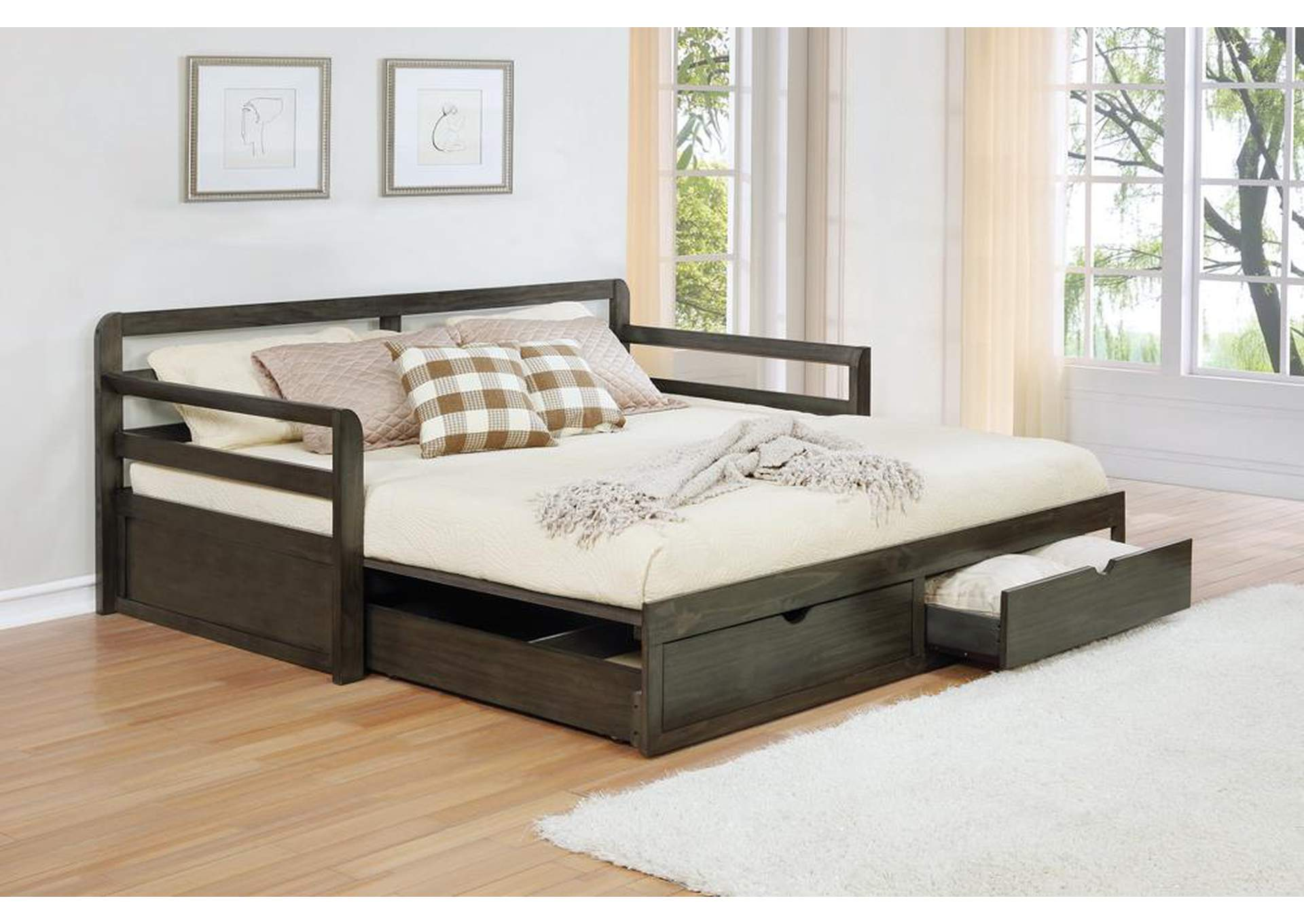 Westar Twin Xl Daybed W/ Trundle,Coaster Furniture