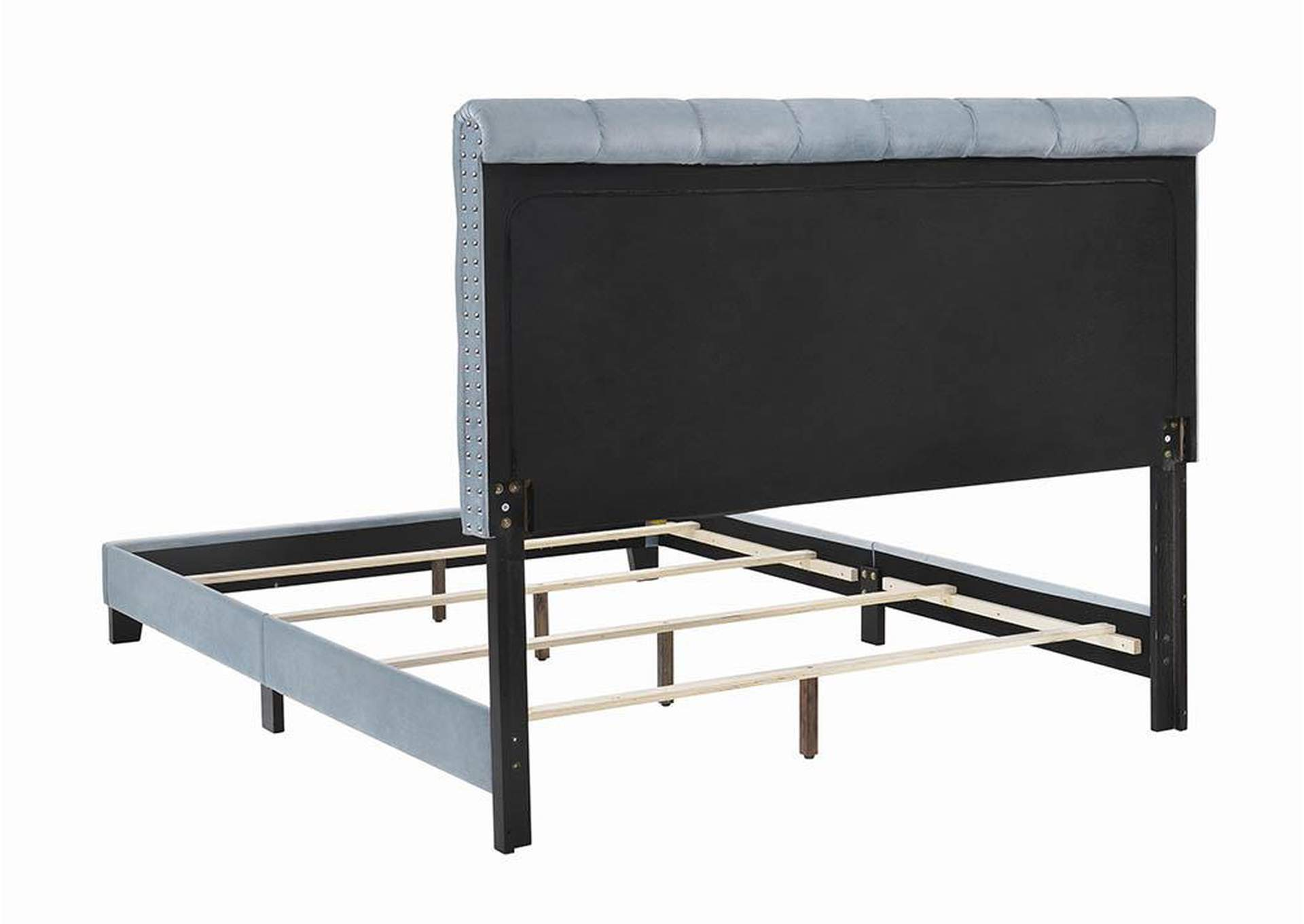 Warner Slate Blue Upholstered Full Bed,Coaster Furniture