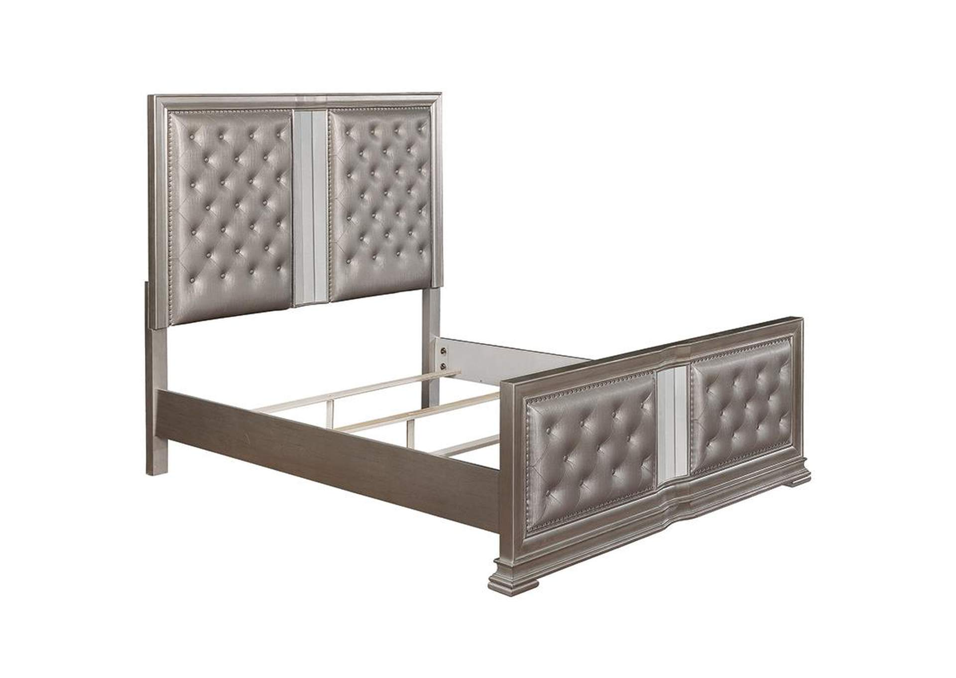 Adele Metallic Upholstered Queen Panel Bed,Coaster Furniture