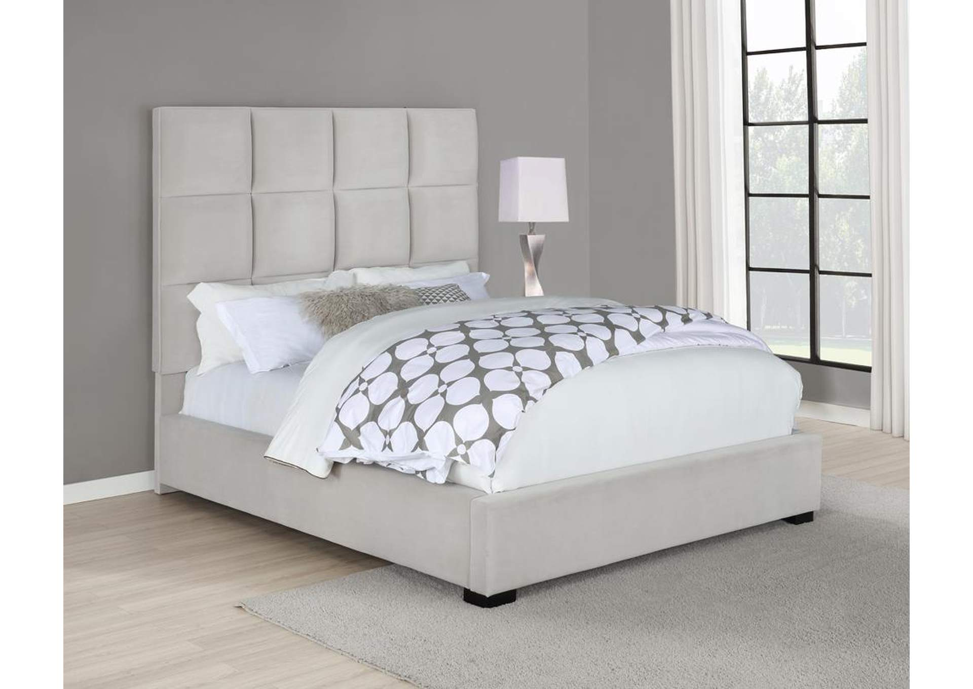 Beige Upholstered Queen Bed,Coaster Furniture