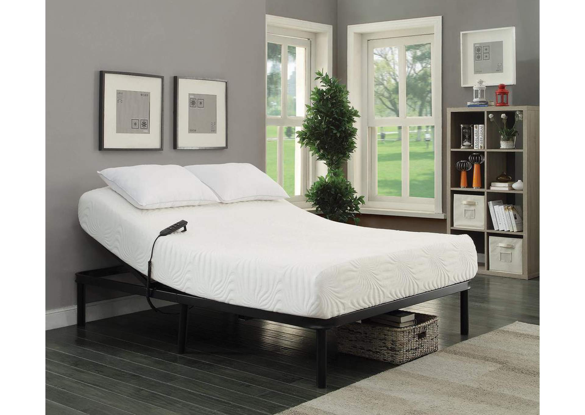 Stanhope Black Adjustable Full Bed,Coaster Furniture