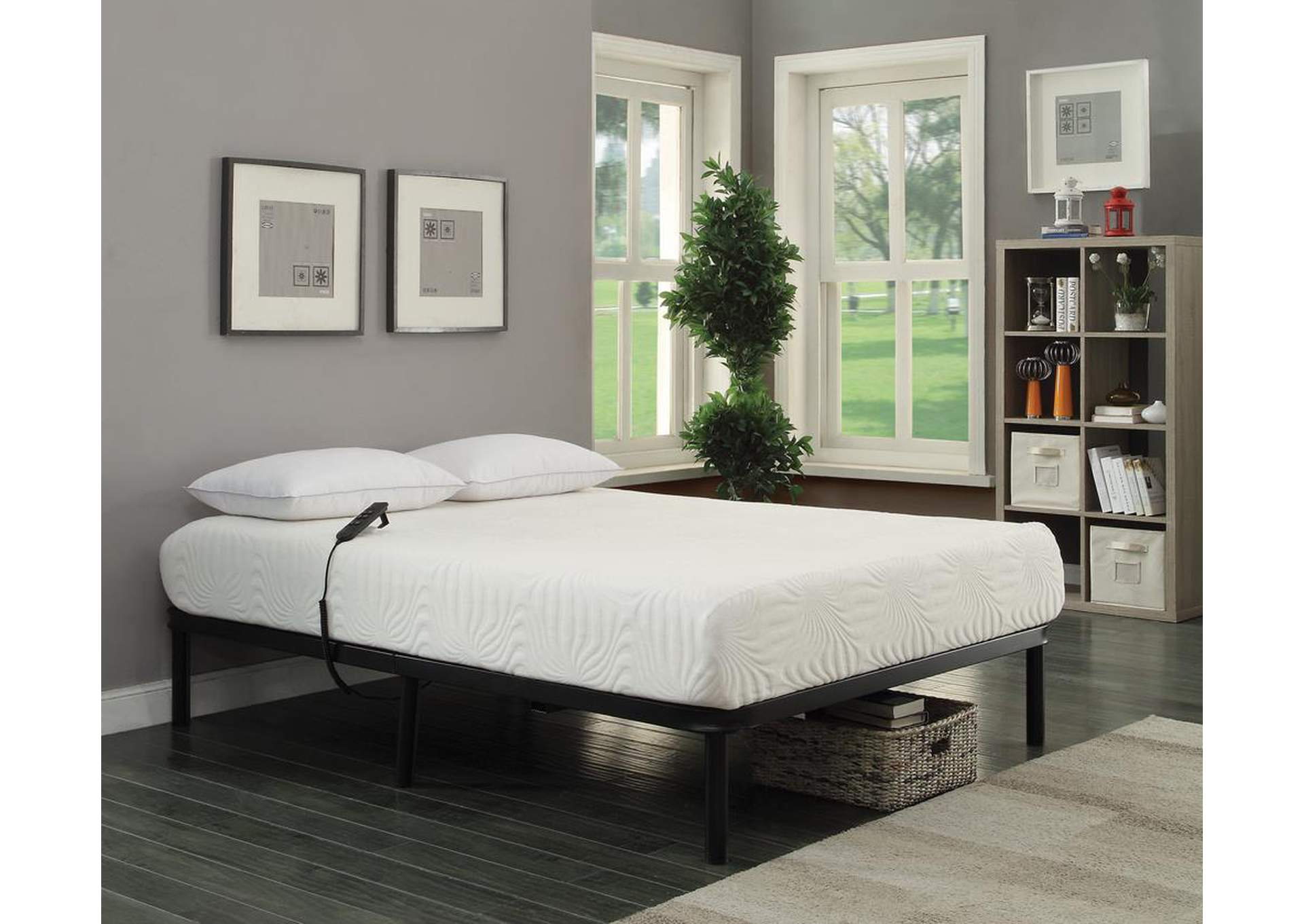 Stanhope Black Adjustable Queen Bed,Coaster Furniture