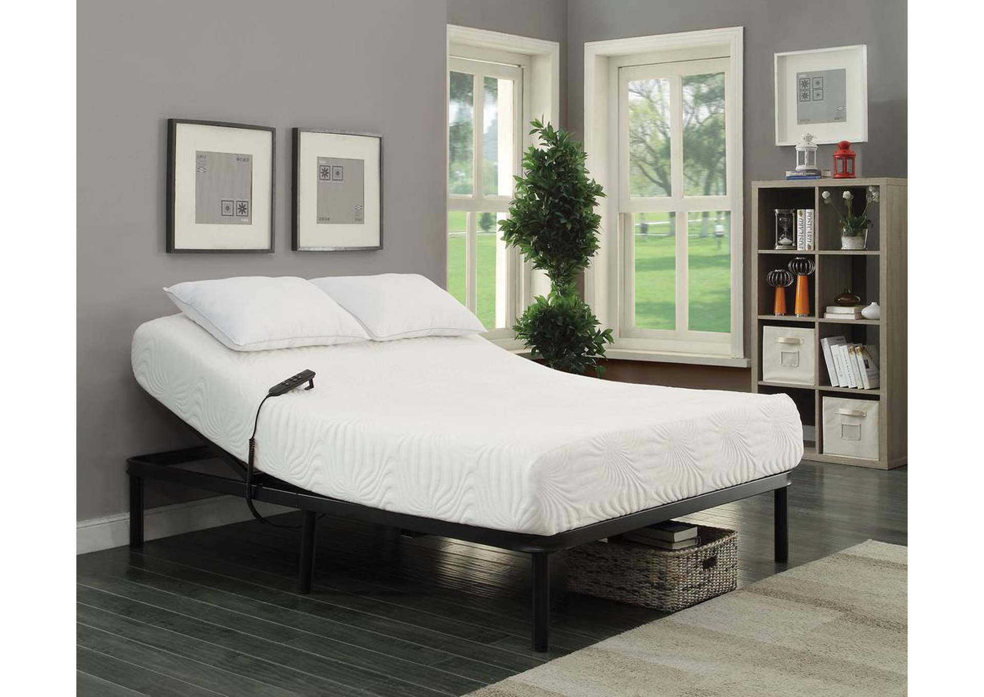 Stanhope Black Queen Adjustable Bed,Coaster Furniture