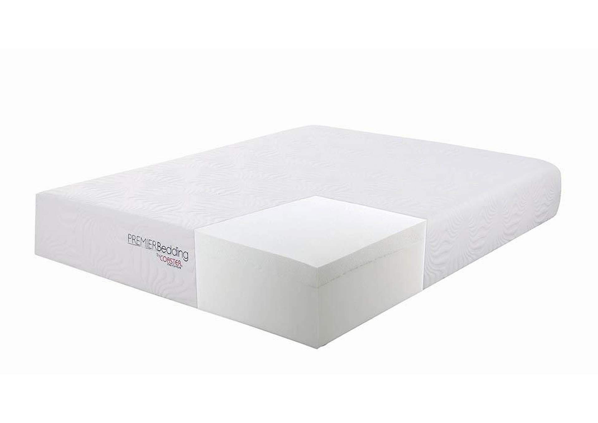 Ian 12 Inch Eastern King Memory Foam Mattress,Coaster Furniture