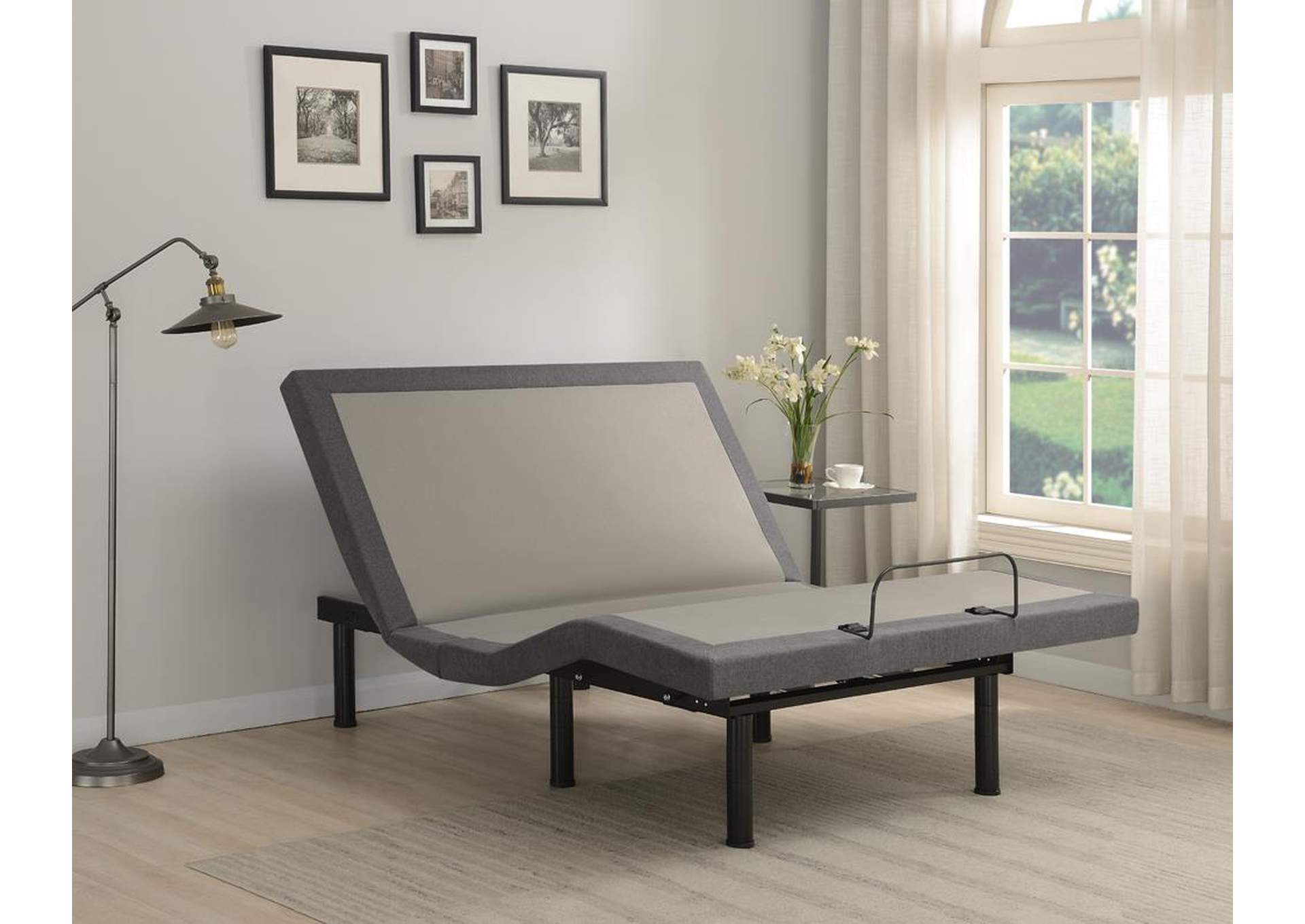 Clara Grey/Black Eastern King Adjustable Bed Base,Coaster Furniture