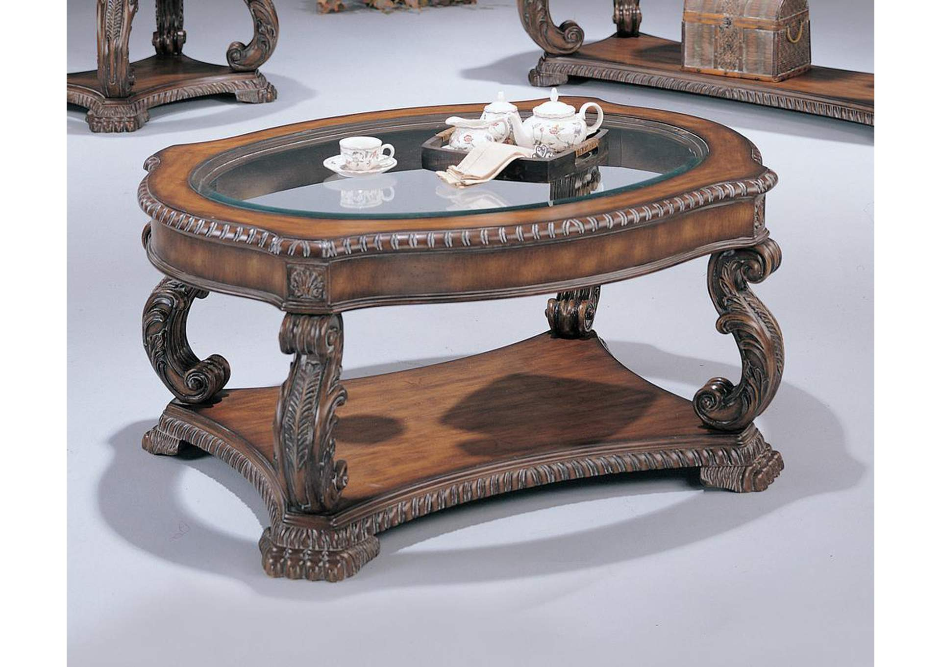 Garroway Brown Coffee Table,Coaster Furniture