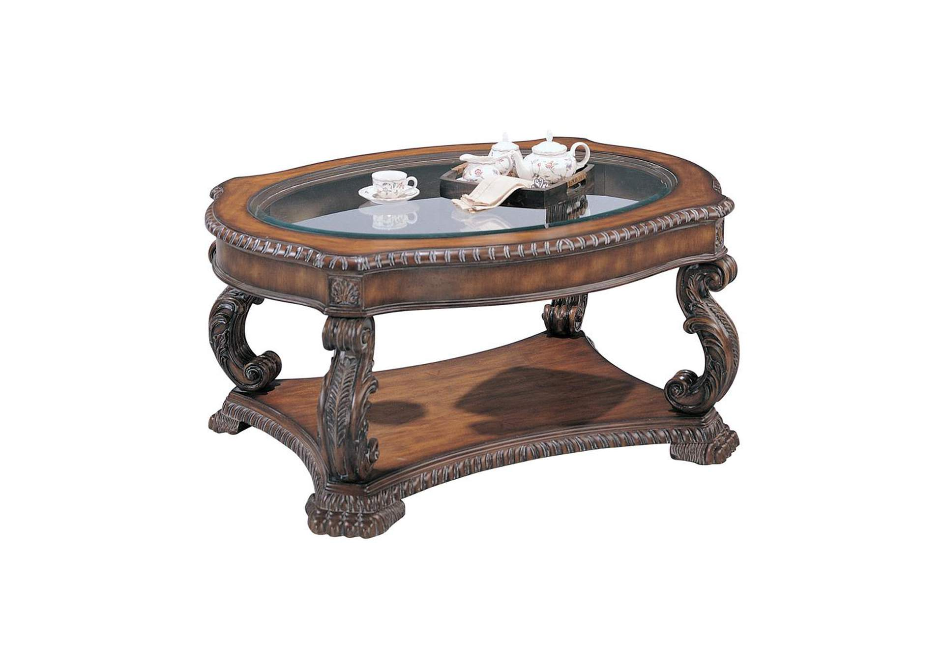 Brown Garroway Traditional Brown Coffee Table,Coaster Furniture