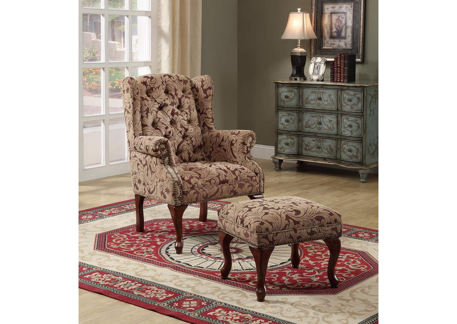 Queen Anne Light Brown Accent Chair,Coaster Furniture