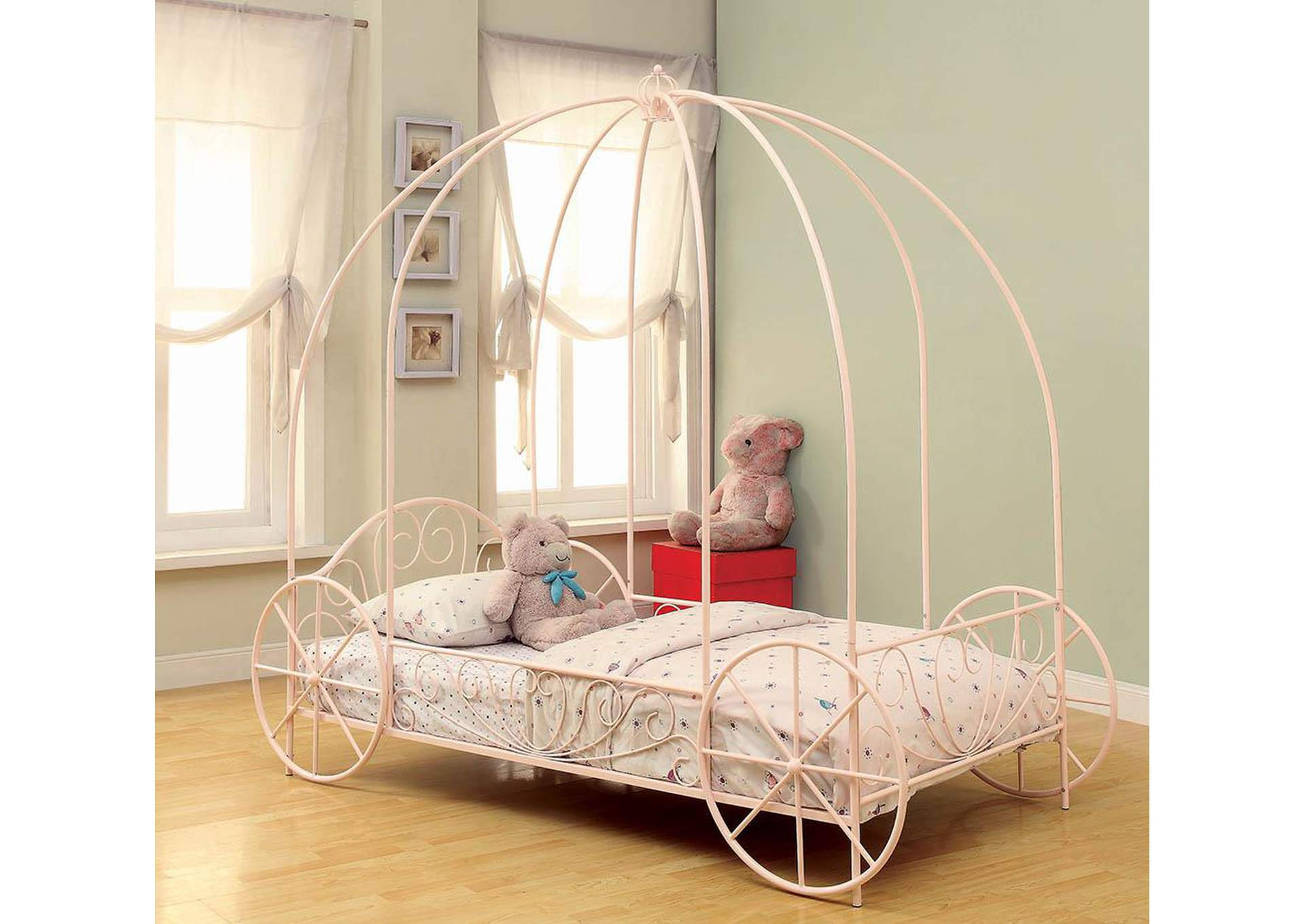 Massi Pink Twin Bed,Coaster Furniture