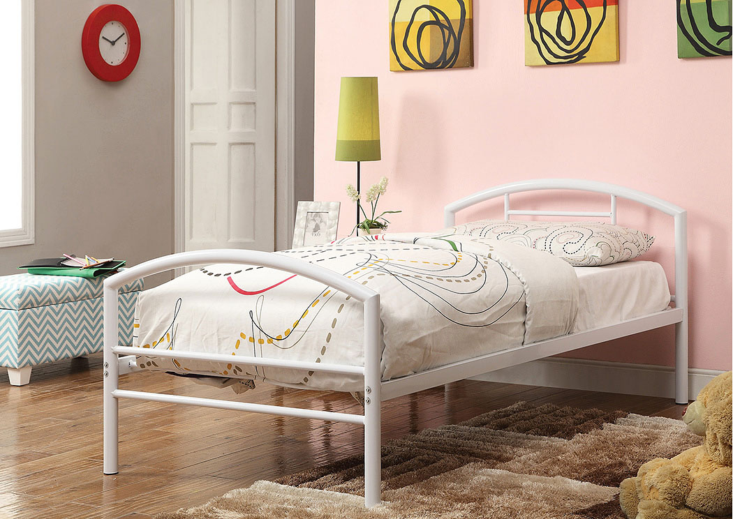 White Twin Bed,Coaster Furniture