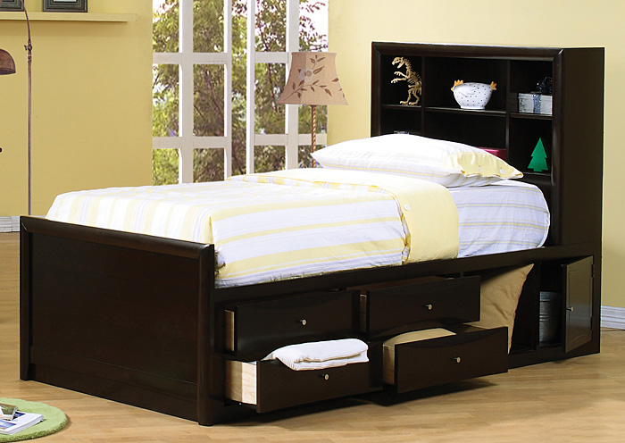Phoenix Cappuccino Twin Bed,Coaster Furniture