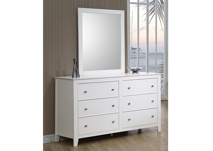 Selena White Dresser,Coaster Furniture
