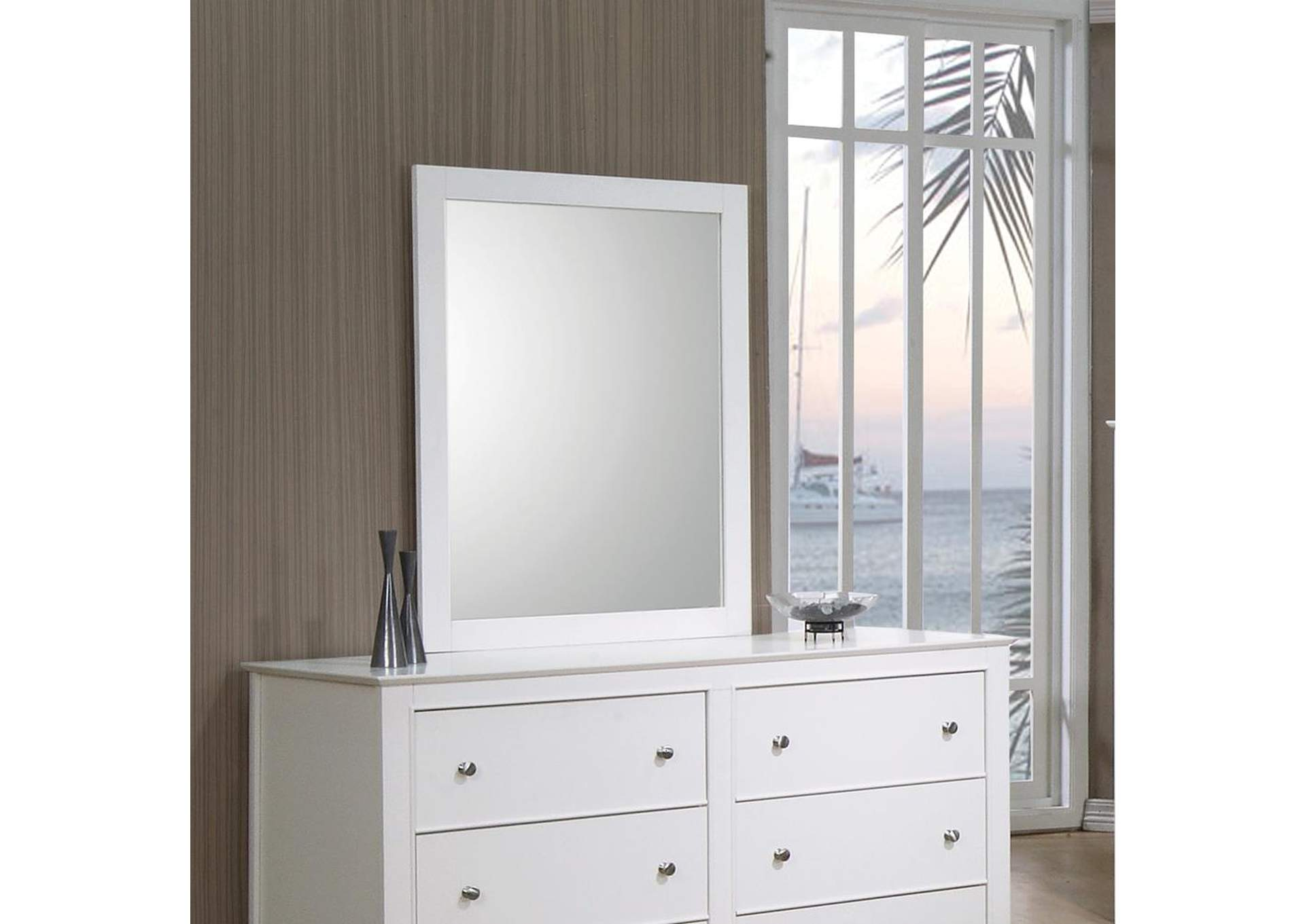 Selena White Mirror,Coaster Furniture