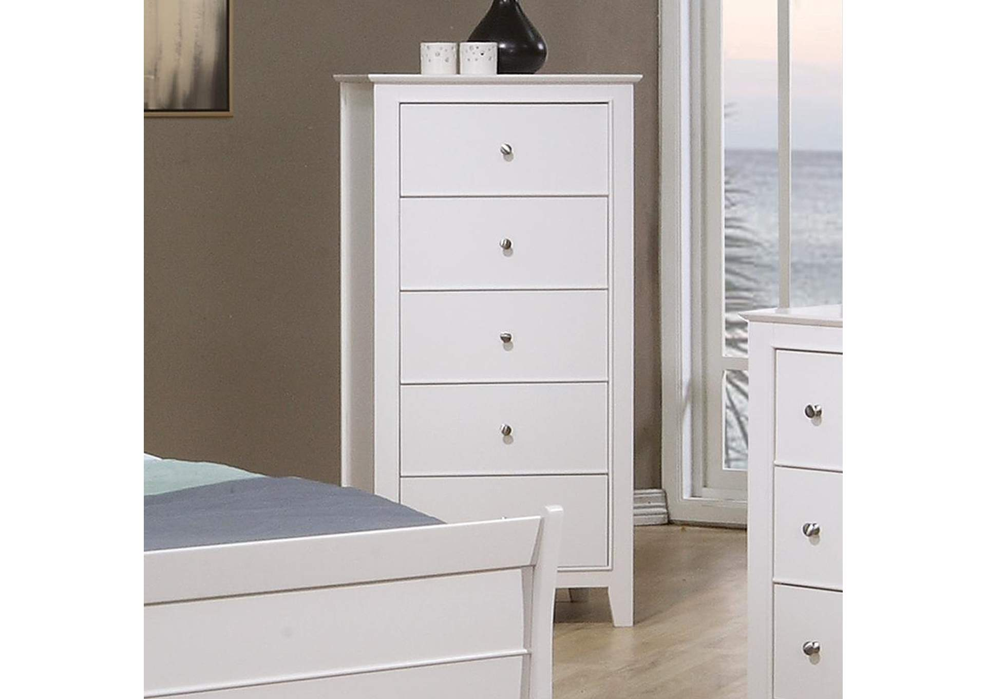 Selena White Chest,Coaster Furniture
