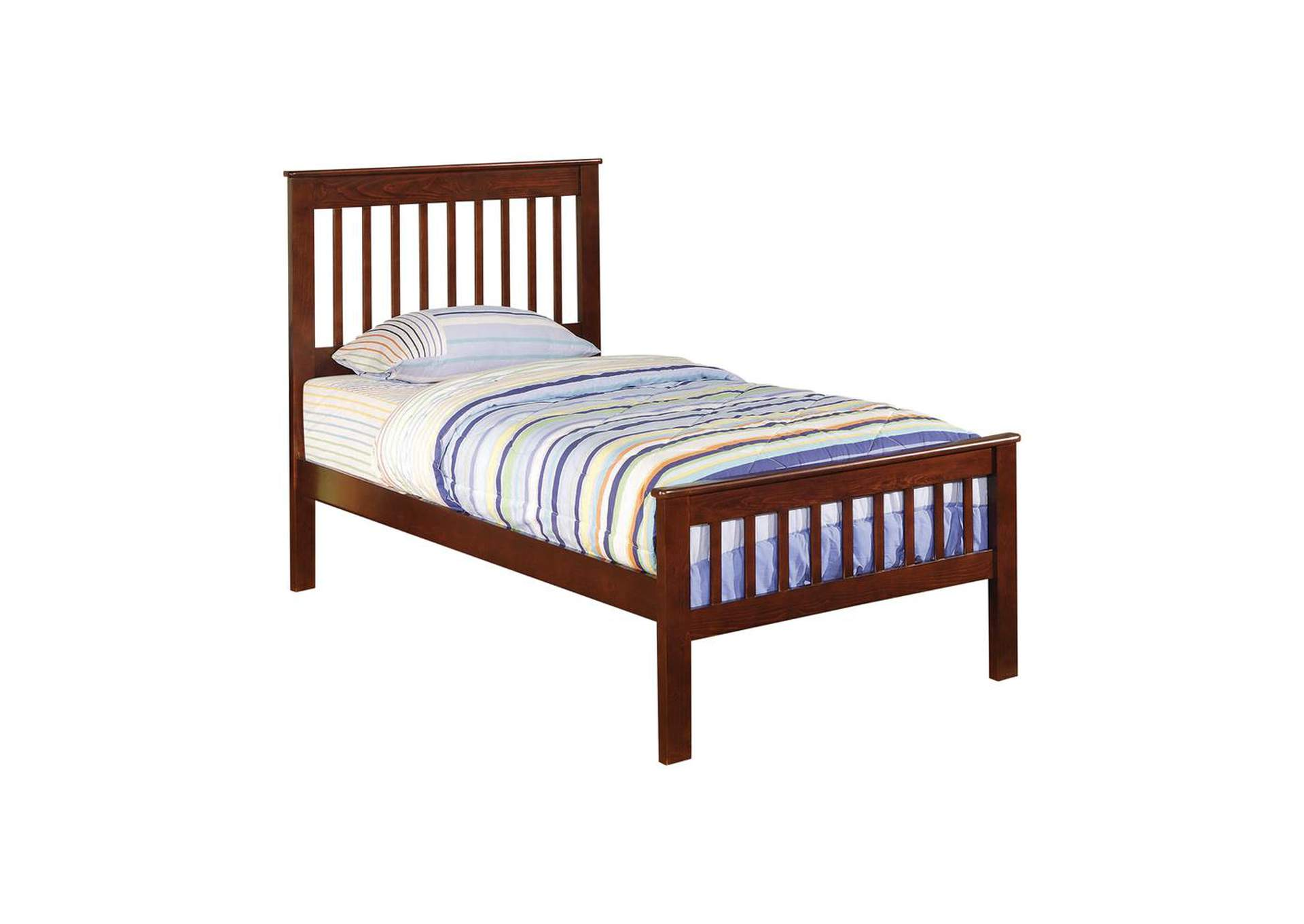 Espresso Parker Transitional Twin Bed,Coaster Furniture