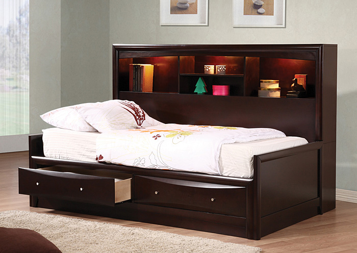 Phoenix Cappuccino Twin Daybed,Coaster Furniture