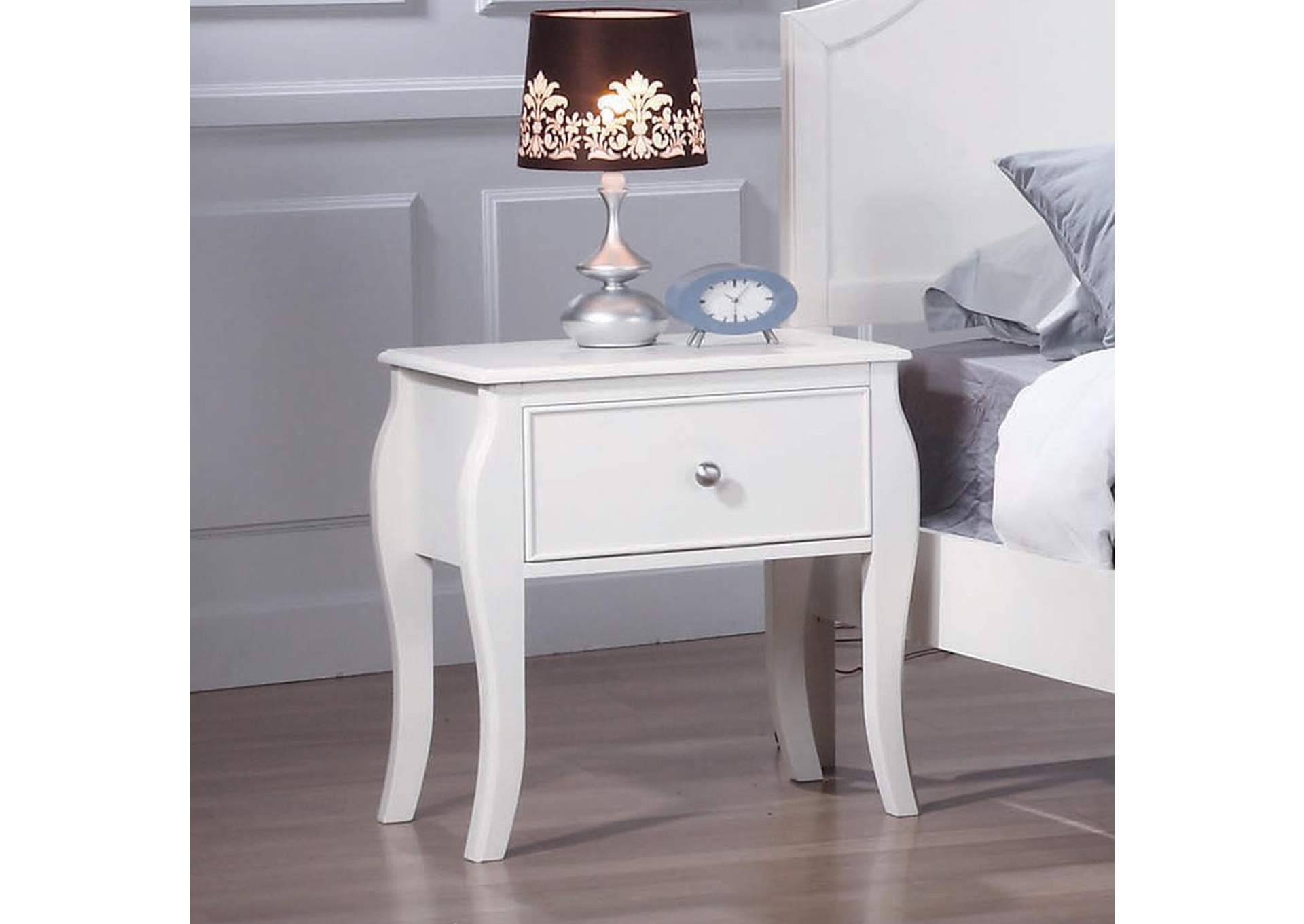Dominique White Night Stand,Coaster Furniture