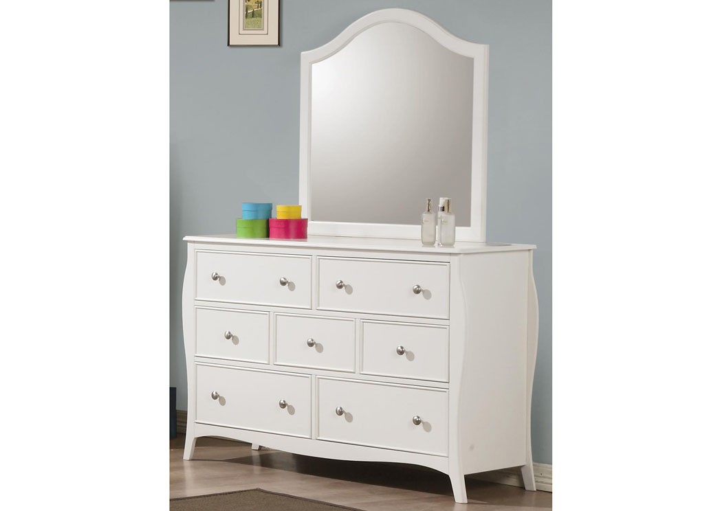 Dominique White Mirror,ABF Coaster Furniture