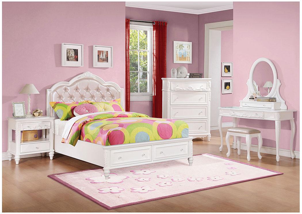 White Full Storage Bed w/Dresser u0026 MirrorCoaster Furniture & Bay Shore Furniture - Bay Shore NY White Full Storage Bed w/Dresser ...