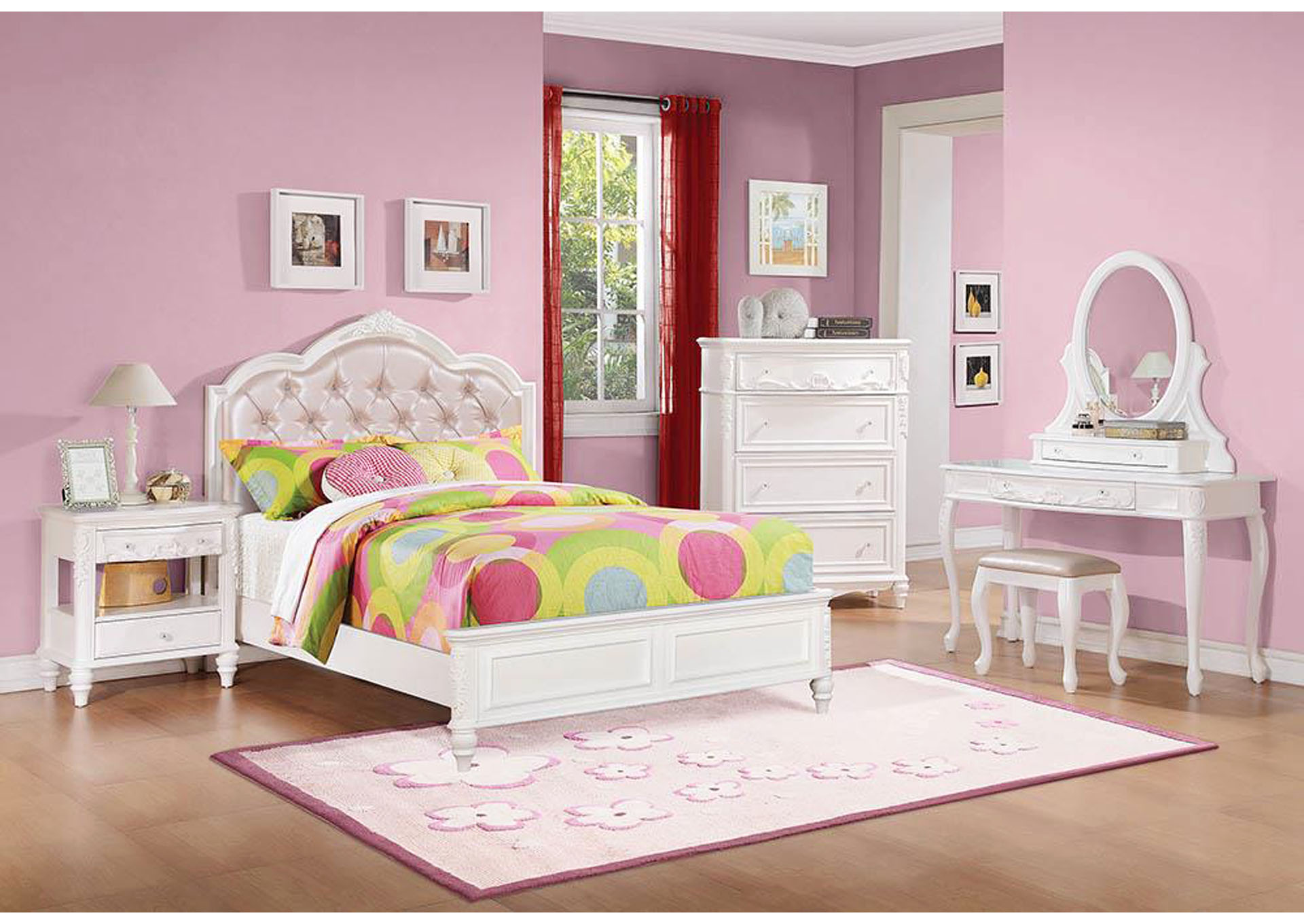 Caroline White Full Storage bed,Coaster Furniture