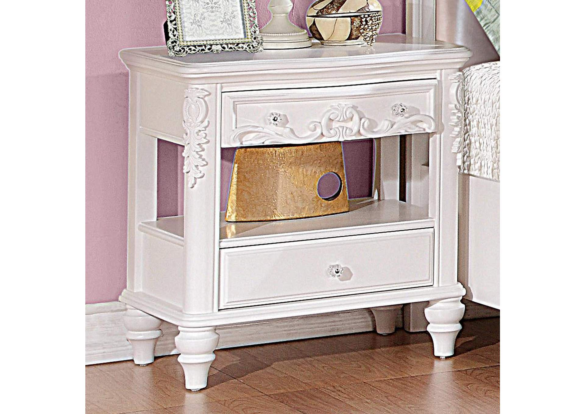 Caroline White Nightstand,Coaster Furniture